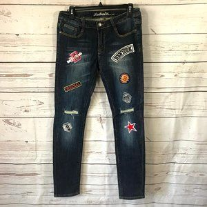 *3/$18*Machine Womens' Skinny Jeans With Applique